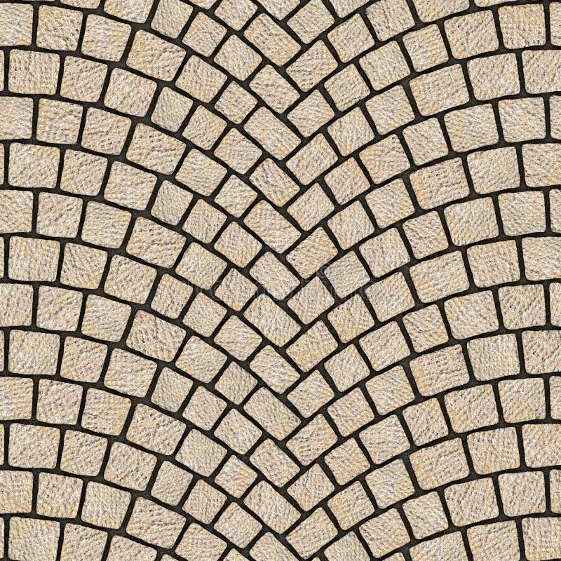被成拱形的鹅卵石路面纹理068 皇族释放例证