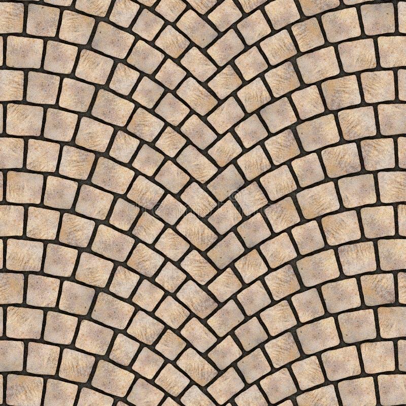 被成拱形的鹅卵石路面纹理069 库存例证