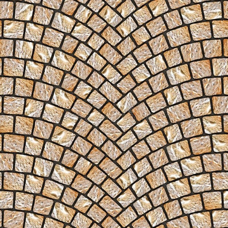 被成拱形的鹅卵石路面纹理071 皇族释放例证