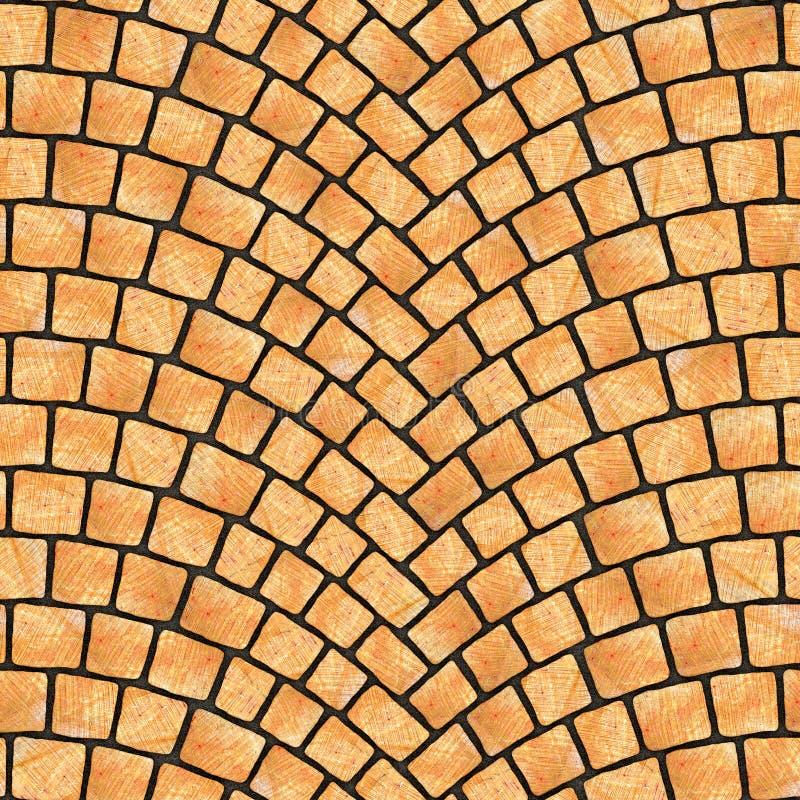 被成拱形的鹅卵石路面纹理070 皇族释放例证