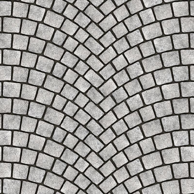 被成拱形的鹅卵石路面纹理072 库存例证