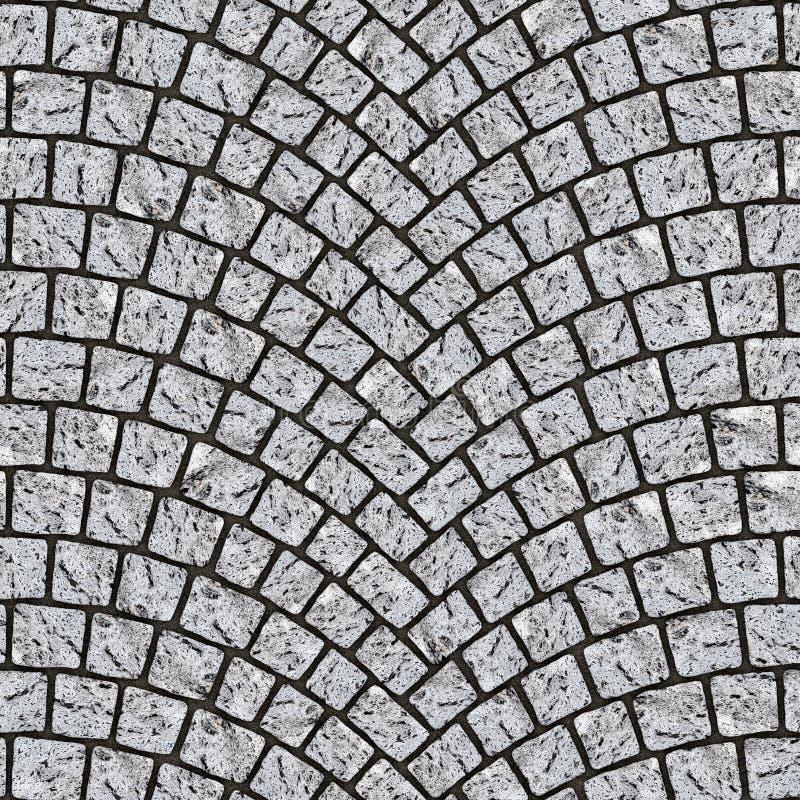 被成拱形的鹅卵石路面纹理076 皇族释放例证