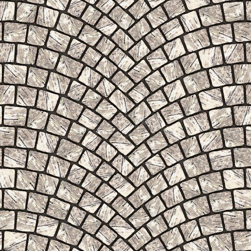 被成拱形的鹅卵石路面纹理077 皇族释放例证