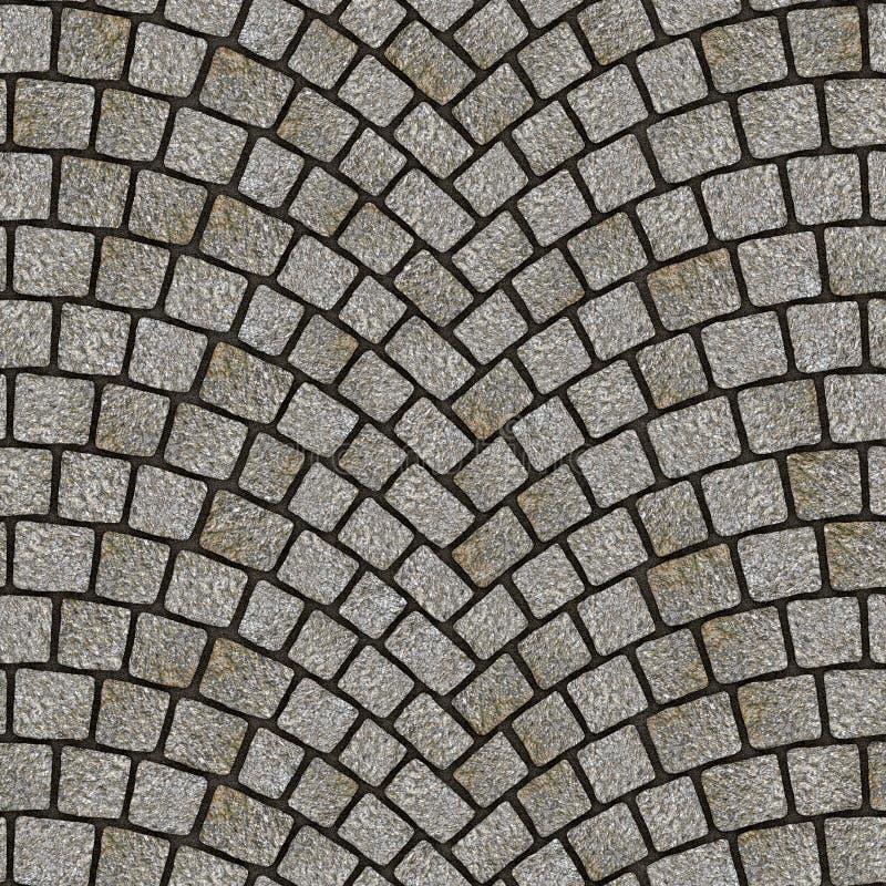 被成拱形的鹅卵石路面纹理078 皇族释放例证