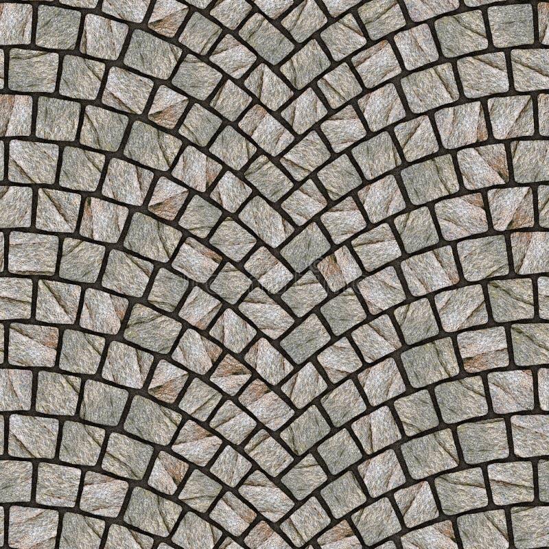 被成拱形的鹅卵石路面纹理079 库存例证