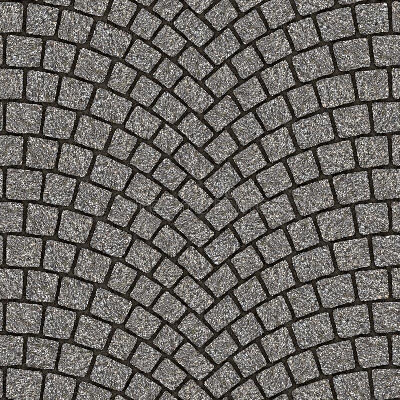 被成拱形的鹅卵石路面纹理080 库存例证