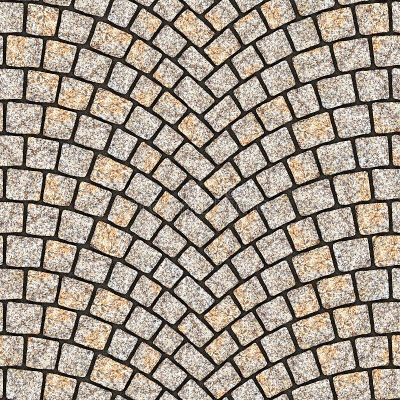 被成拱形的鹅卵石路面纹理083 皇族释放例证