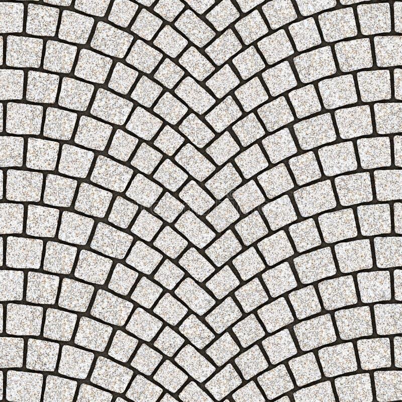 被成拱形的鹅卵石路面纹理084 皇族释放例证