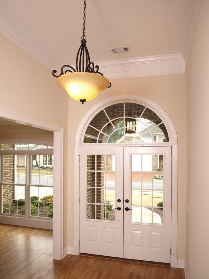 被成拱形的door1休息室玻璃豪华 库存图片