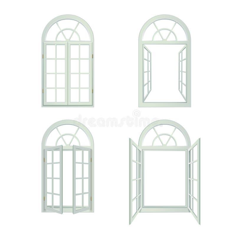 被成拱形的Windows现实集合 皇族释放例证