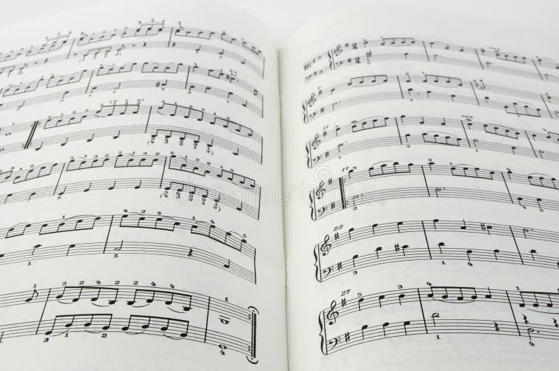 被打印的音乐 免版税库存图片