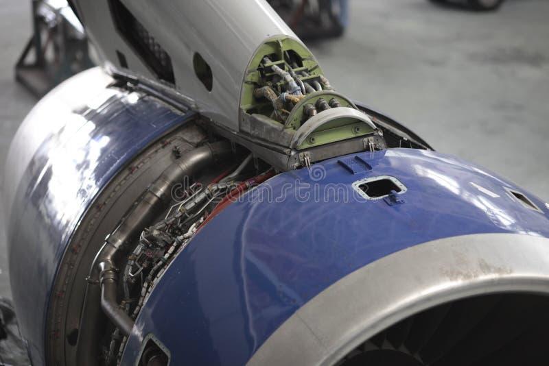 被打开的引擎rb211 图库摄影