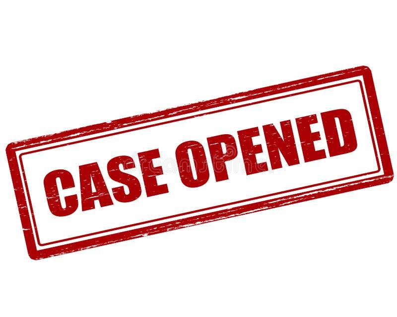 被打开的案件 库存例证
