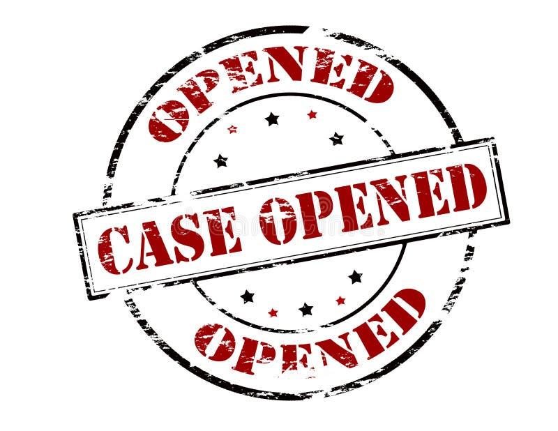 被打开的案件 向量例证