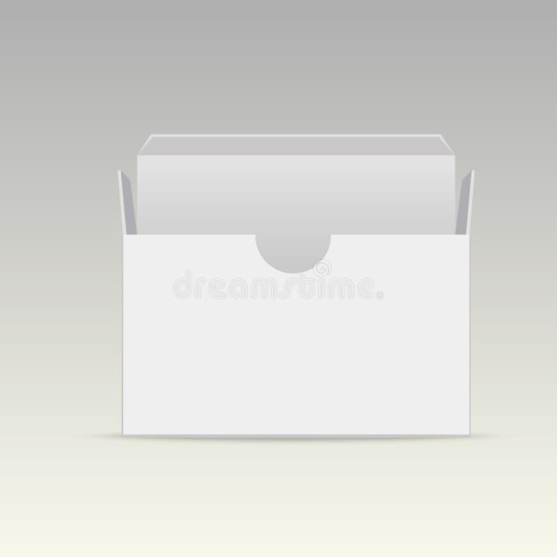 被打开的白色现代软件包箱子 包装盒 向量 向量例证
