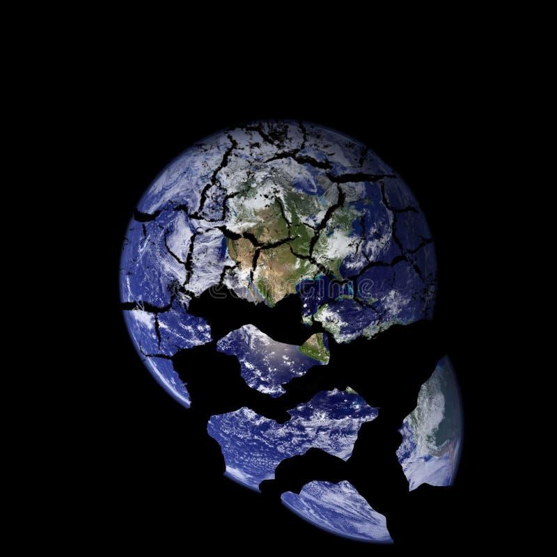 被打碎的地球 库存照片