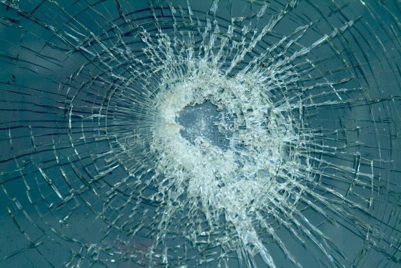 被打碎的挡风玻璃 免版税库存图片