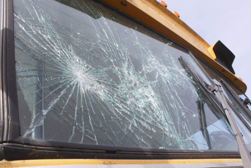被打碎的挡风玻璃 免版税库存照片