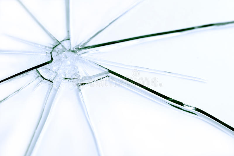 被打碎的玻璃 库存照片
