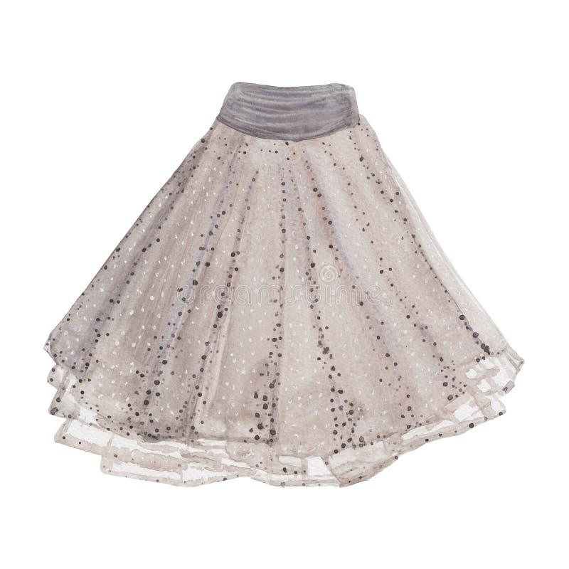 被打褶的裙子 向量例证