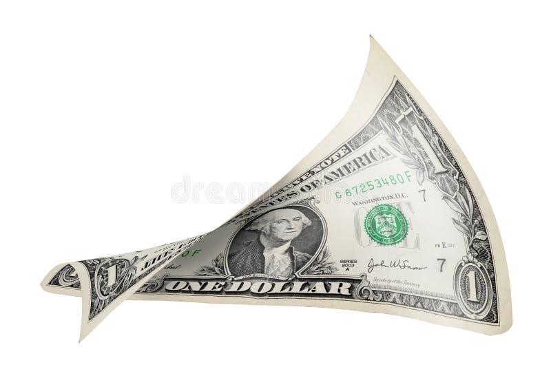 被扭转的票据美元 免版税库存图片