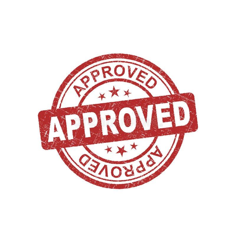 被批准的圆的邮票 向量例证
