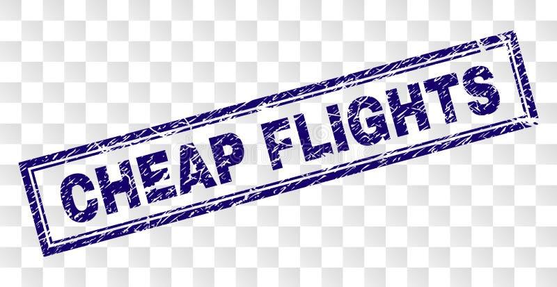 被抓的便宜的飞行长方形邮票 向量例证