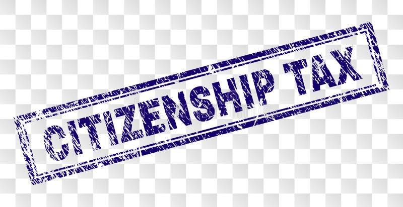 被抓的公民身份税长方形邮票 向量例证