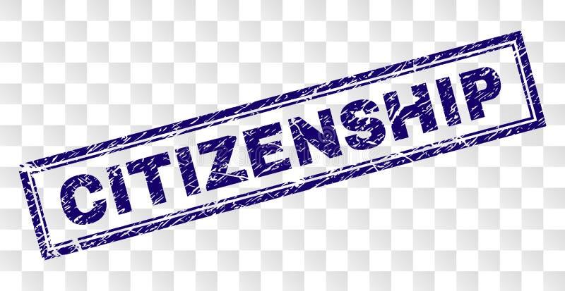 被抓的公民身份长方形邮票 皇族释放例证