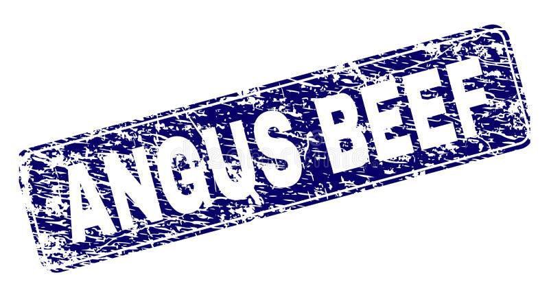 被抓的安格斯发牢骚被构筑的被环绕的长方形邮票 库存例证