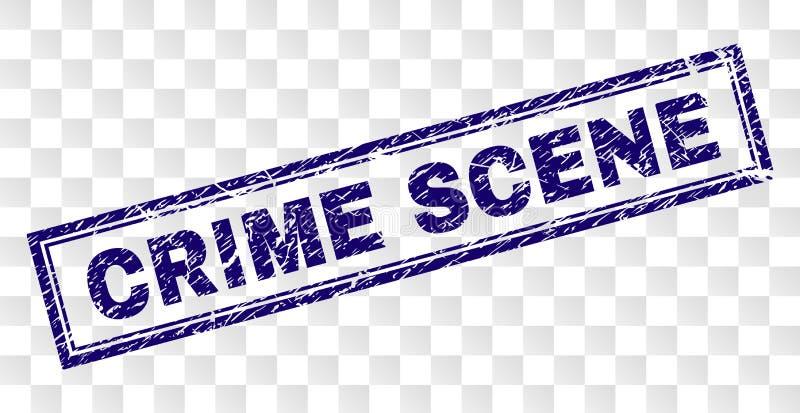 被抓的犯罪现场长方形邮票 库存例证