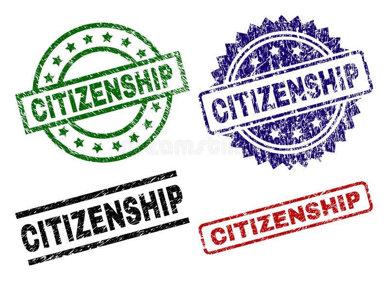 被抓的织地不很细公民身份封印邮票 向量例证