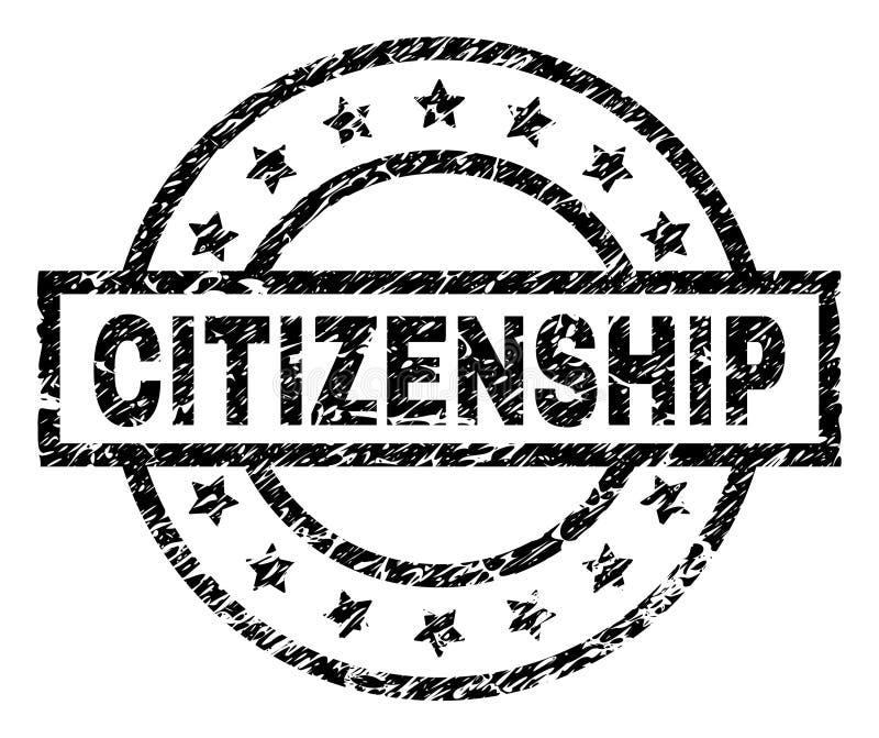 被抓的织地不很细公民身份邮票封印 皇族释放例证
