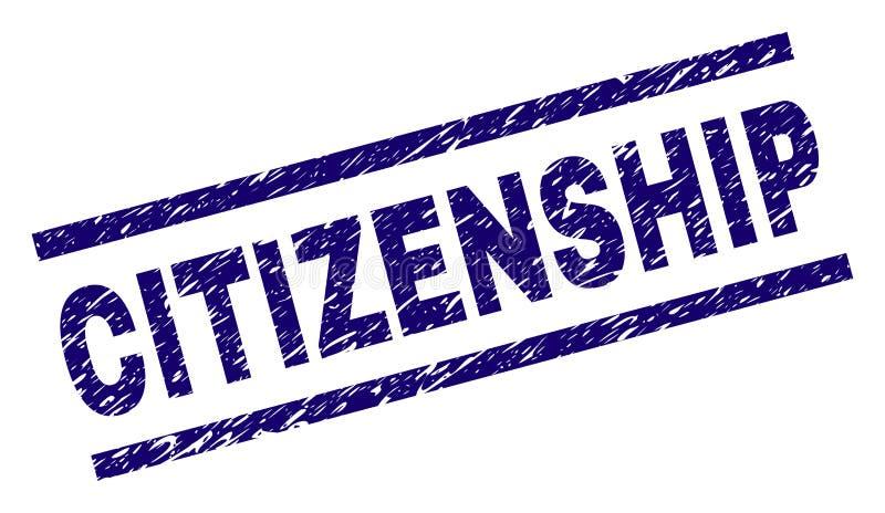 被抓的织地不很细公民身份邮票封印 库存例证