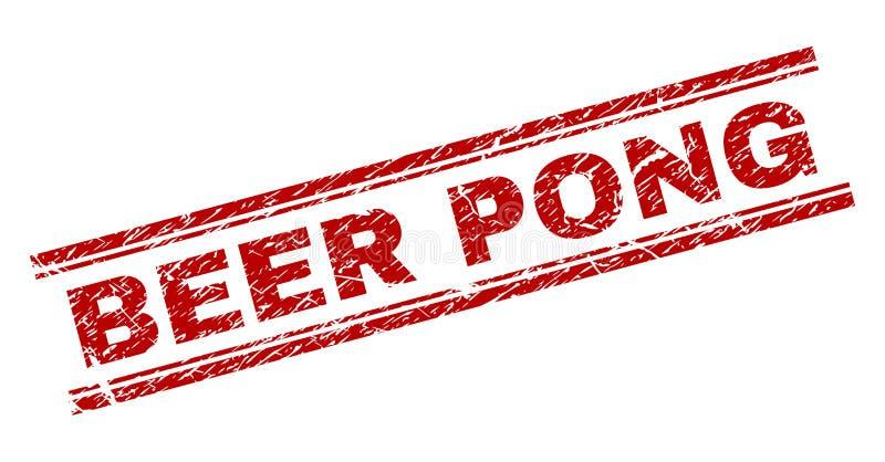 被抓的织地不很细啤酒PONG邮票封印 皇族释放例证