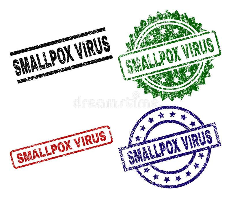被抓的织地不很细天花病毒邮票封印 向量例证