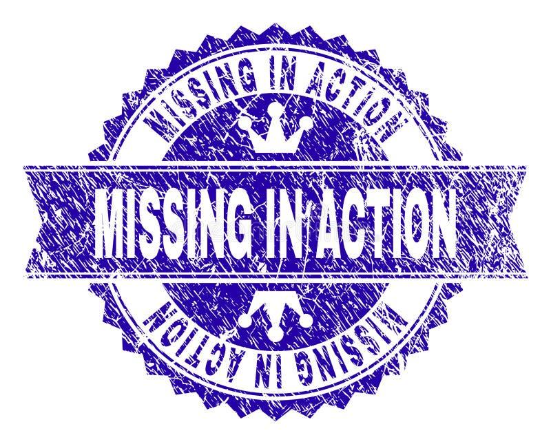被抓的织地不很细战斗中失踪有丝带的邮票封印 向量例证