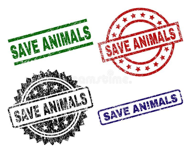 被抓的织地不很细救球动物封印邮票 向量例证