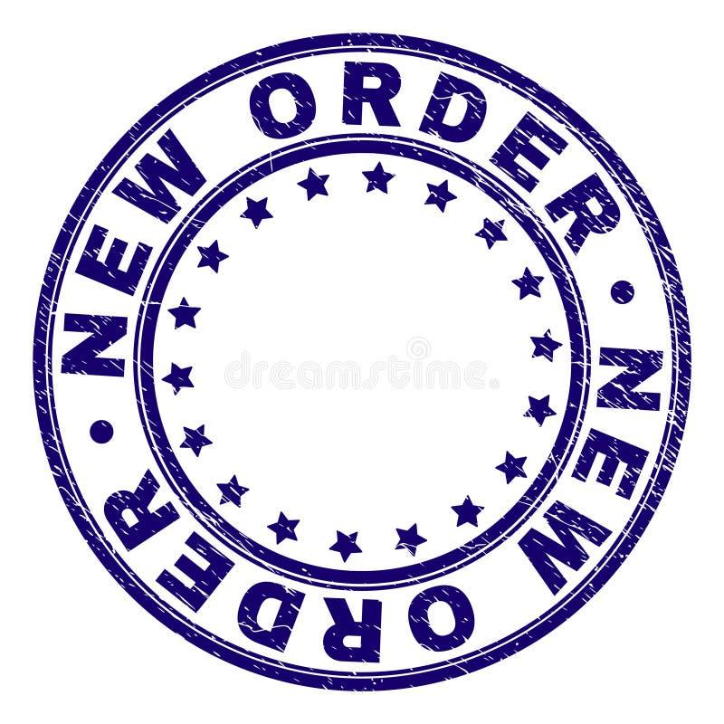 被抓的织地不很细新的命令回合邮票封印 库存例证