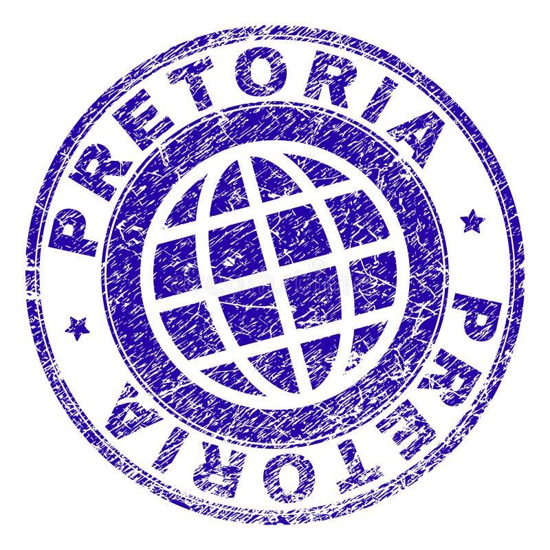 被抓的织地不很细比勒陀利亚邮票封印 向量例证