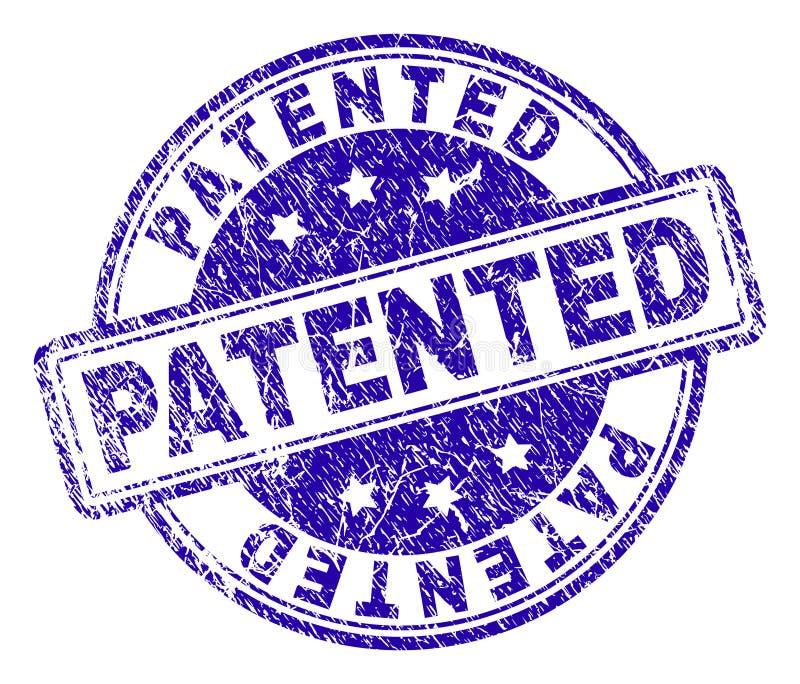 被抓的织地不很细给予专利的邮票封印 向量例证