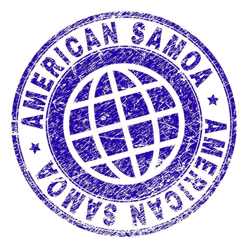 被抓的织地不很细美属萨摩亚邮票封印 向量例证