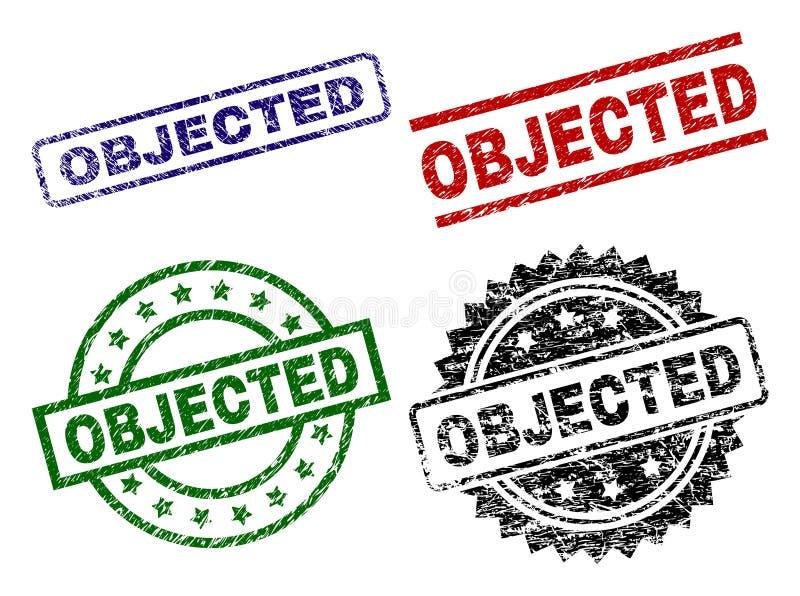 被抓的织地不很细被反对的封印邮票 向量例证