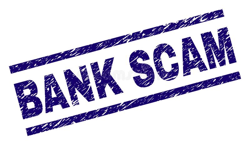 被抓的织地不很细银行诈欺邮票封印 向量例证