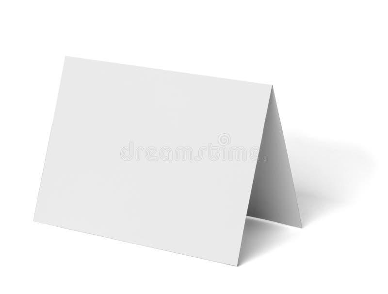 被折叠的传单白色白纸模板书 图库摄影
