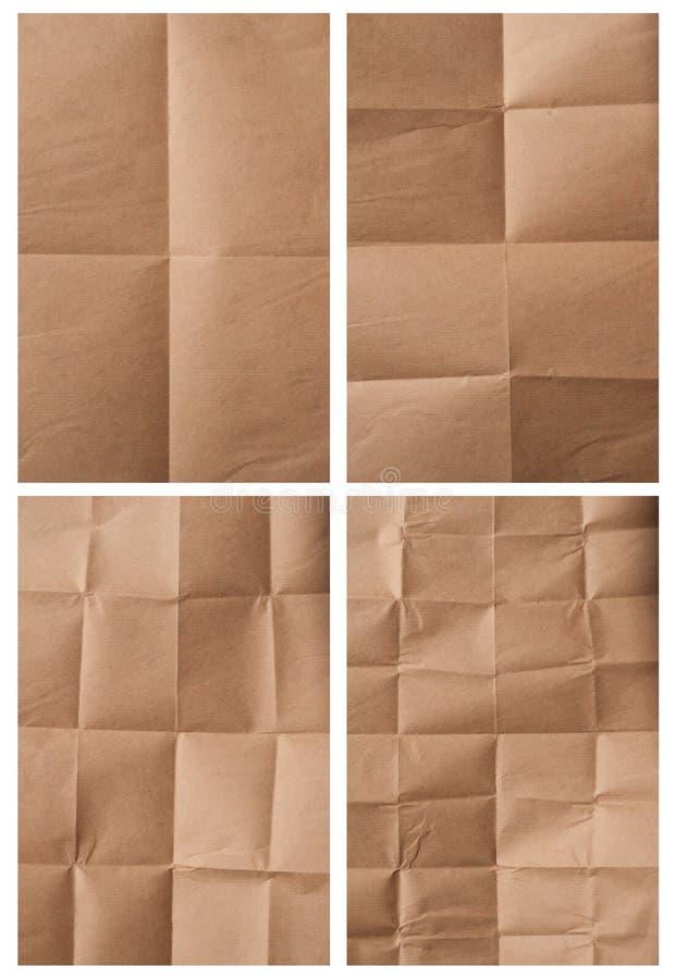 被折叠的包装纸 库存图片