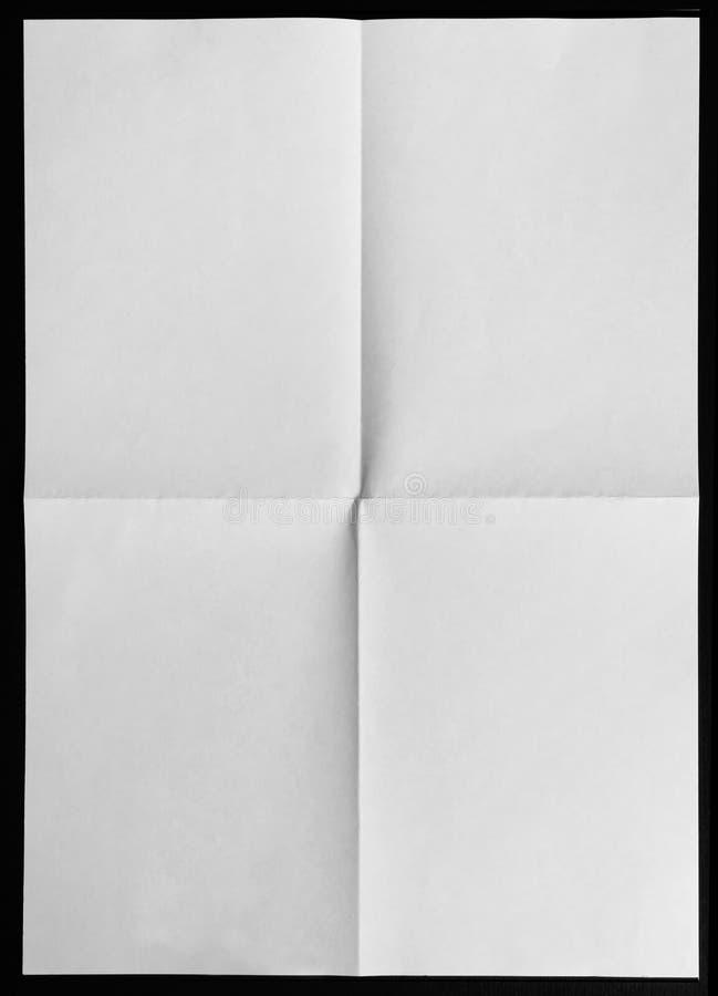 被折叠的四纸张 免版税库存照片