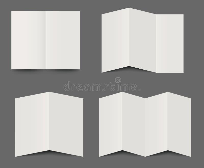 被折叠的小册子传染媒介模板  皇族释放例证