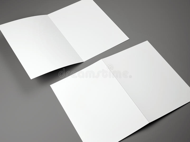 被折叠的小册子A4大小空白的模板  向量例证
