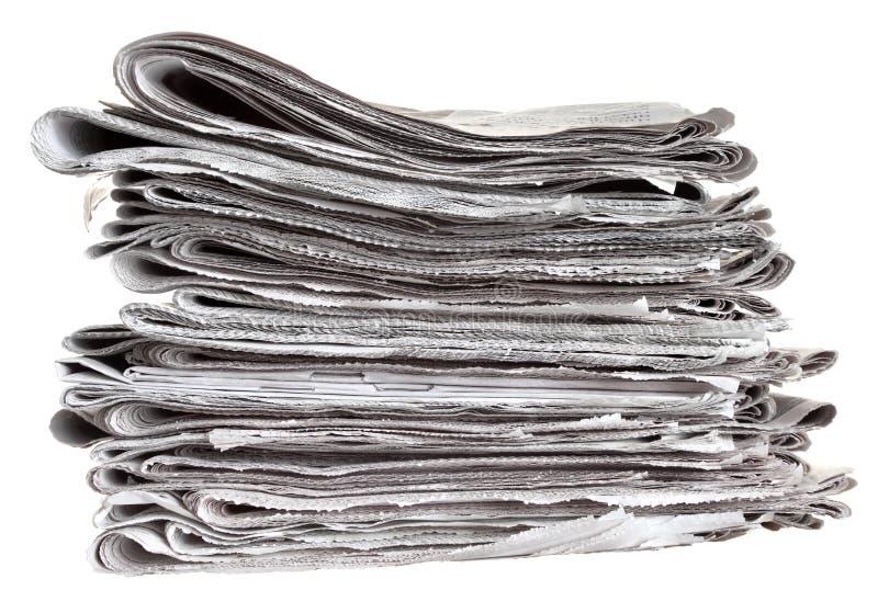 被折叠的报纸堆 免版税库存照片